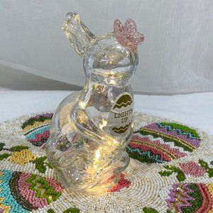 Other - LED  Murano Art Glass Figure Easter Bunny Statue